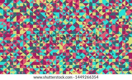 multicolored triangle mosaic