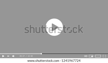 Multicolored video player template. Vector illustration