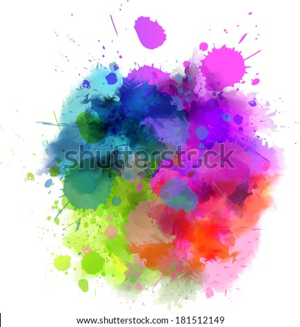 multicolored watercolor splash