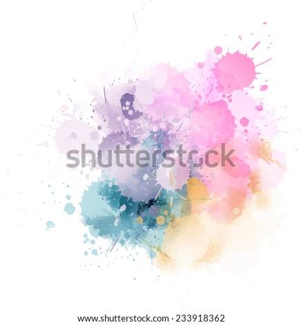 multicolored watercolor splash