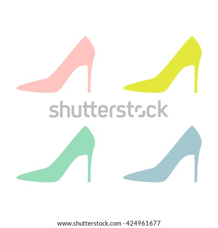 multicolored woman shoes on