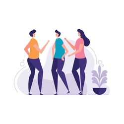 Multiethic Group of People Standing Togather vector