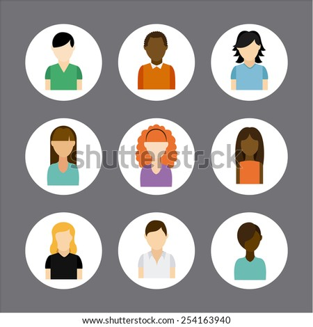 multiethnic community design, vector illustration eps10 graphic
