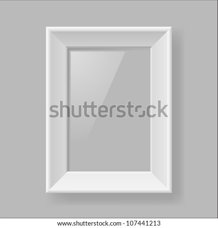 Multifunction Empty White Frame on Gray Background