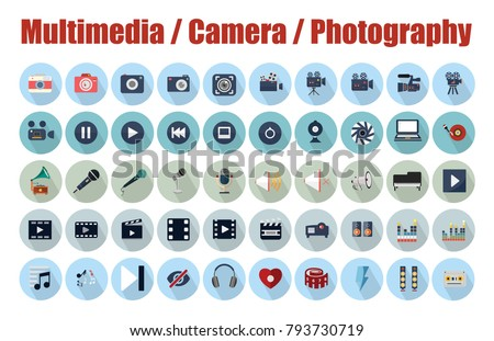 Multimedia, Camera and Photography  icons