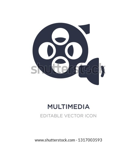 multimedia icon on white background. Simple element illustration from Multimedia concept. multimedia icon symbol design.