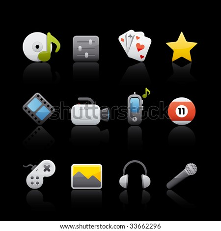 Multimedia Icon Set for multiple application in Adobe Illustrator EPS 8.