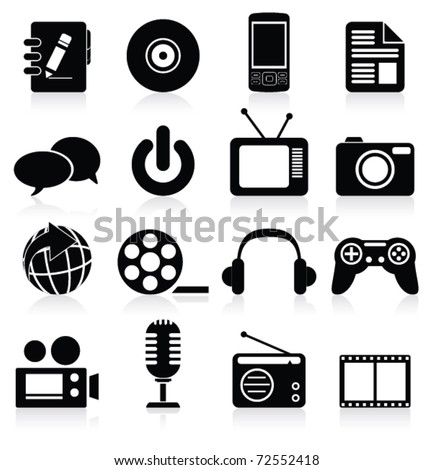 Multimedia icon. Vector