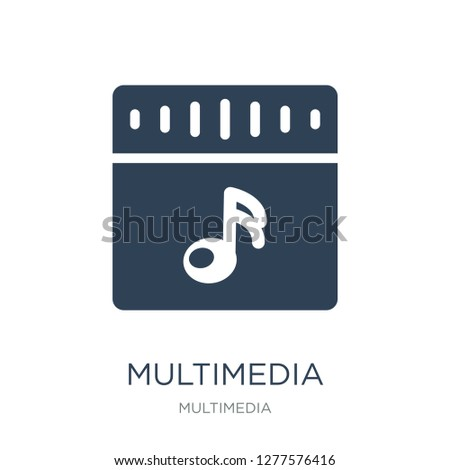 multimedia icon vector on white background, multimedia trendy filled icons from Multimedia collection, multimedia vector illustration