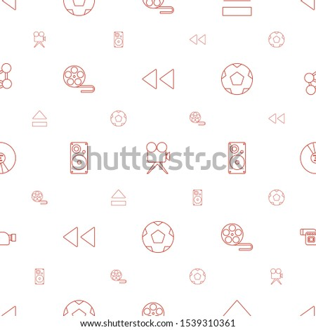 multimedia icons pattern seamless white background. Included editable line play back, camera, eject button, movie tape, loudspeaker icons. multimedia icons for web and mobile.