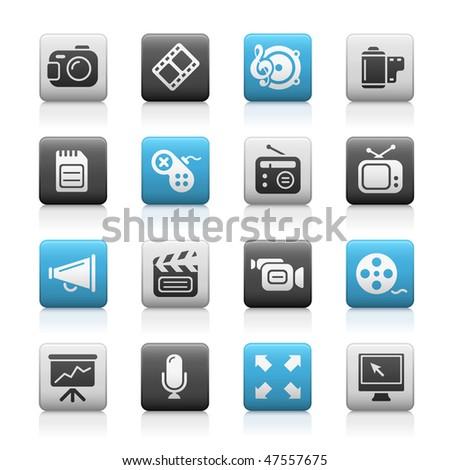 Multimedia Web Icons  // Matte Series