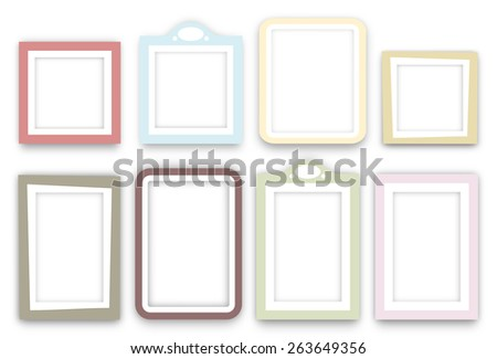 Photo Frame In White And Yellow Colors Vector - Download Free Vector ...