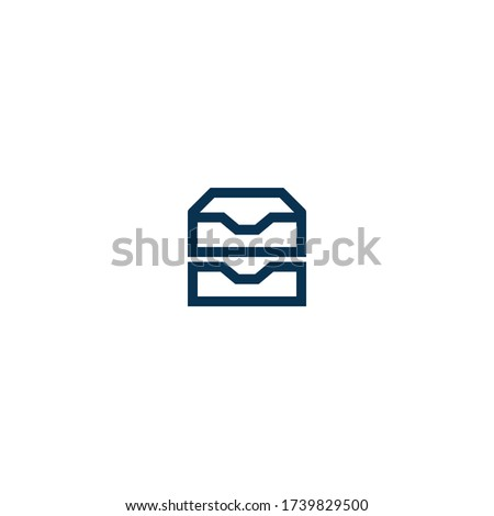 Multiple Inbox - Pictograph | Line Icon