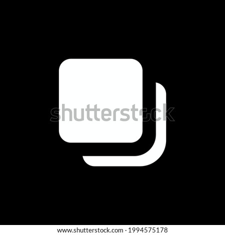 Multiple post icon isolated on white background. Pictures symbol modern, simple, vector, icon for website design, mobile app, ui. Vector Illustration