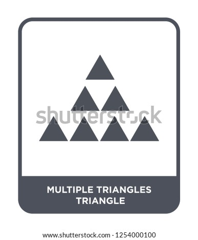 multiple triangles triangle icon vector on white background, multiple triangles triangle trendy filled icons from Geometry collection, multiple triangles triangle simple element illustration