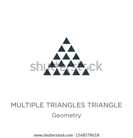 Multiple triangles triangle icon vector. Trendy flat multiple triangles triangle icon from geometry collection isolated on white background. Vector illustration can be used for web and mobile graphic