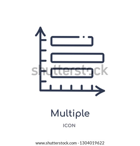 multiple variable vertical bars icon from user interface outline collection. Thin line multiple variable vertical bars icon isolated on white background.