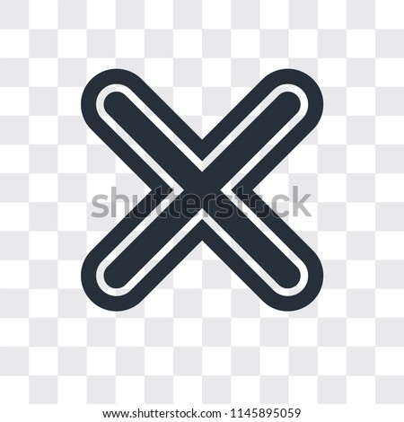 Multiply vector icon isolated on transparent background, Multiply logo concept