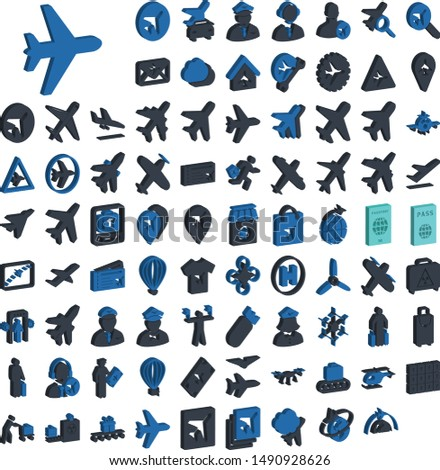 Multipurpose Airline icons pack for travel agencies and airlines