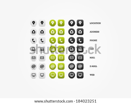 Multipurpose Business Card Icon Set of web icons for business, finance and communication