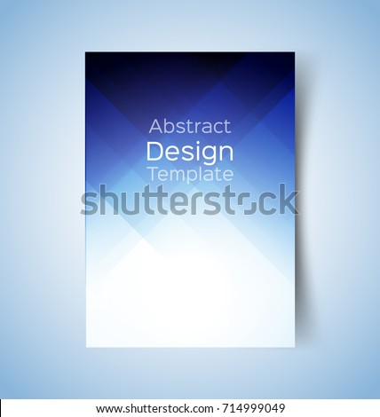 Multipurpose layout design. Suitable for flyer, brochure, book cover and annual report. blue  color in A4 size template background .