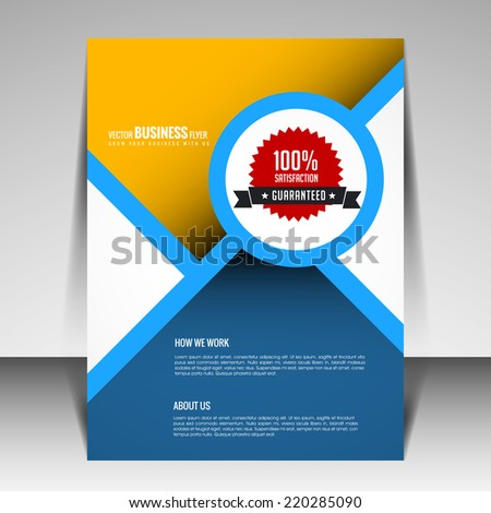 Multipurpose Modern Business Brochure and Flyer template design can be use for publishing, print and presentation.