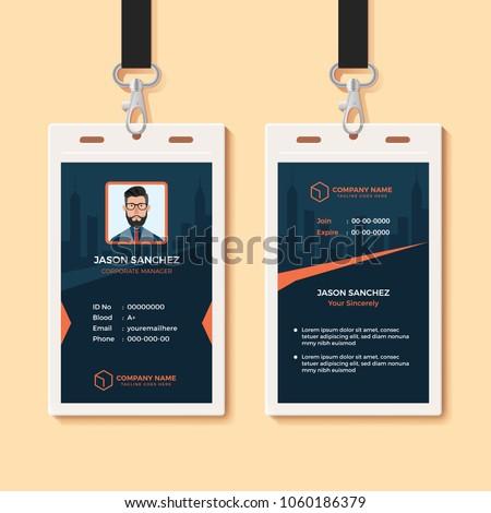 Multipurpose Office ID Card Design Template