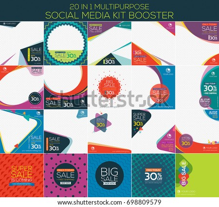 Multipurpose social media kit booster. Alternate design is available for your need, suitable for your promotion #698809579