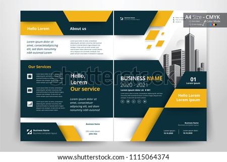 Creative Geometric Bi Fold Brochure Design Template Download Free