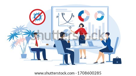 Multiracial Business People Team in Meeting Room. Businesswoman Executive Manager Present Project Startup, Analytical Data Statistic, Financial Report, Corporate Finance Condition after Covid Outbreak