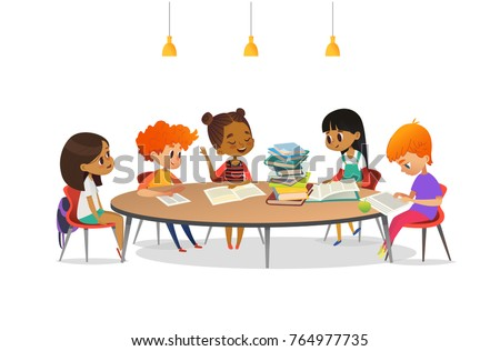 multiracial children sitting