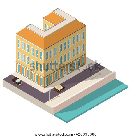 multistory isometric town