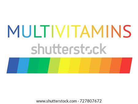 Multivitamin label inspiration, icon vitamins, vector isolated
