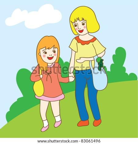 mum and daughter shopping
