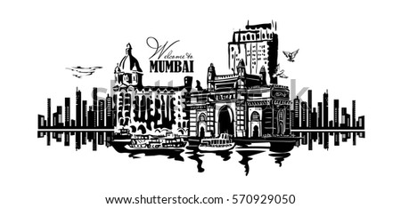 mumbai  india gate and the taj