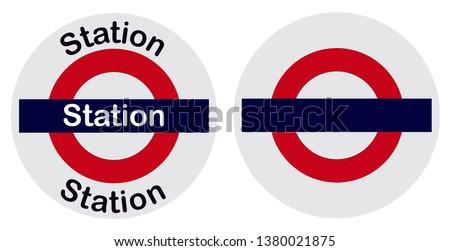 Mumbai Local Train station name bord.  Photo stock ©