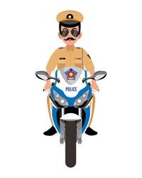 Mumbai Police in Motorcycle