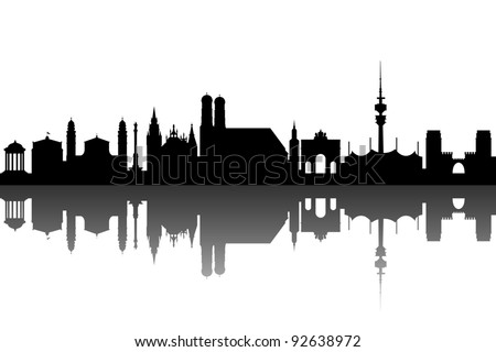 Munich silhouette abstract