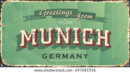 munich vintage sign. munich...