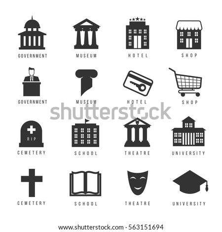 municipal houses and icons