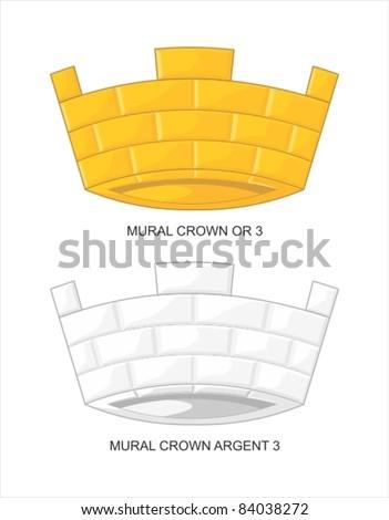mural crown 3 merlons