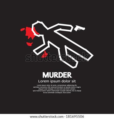 murder vector illustration
