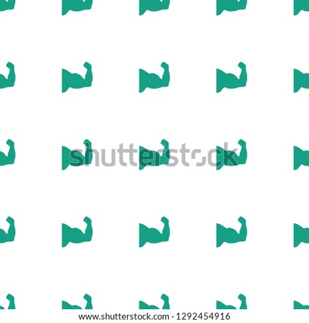 muscle arm icon pattern seamless white background. Editable filled muscle arm icon. muscle arm icon pattern for web and mobile.