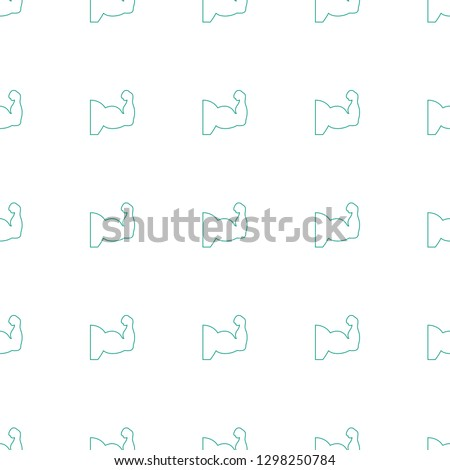 muscle arm icon pattern seamless white background. Editable line muscle arm icon. muscle arm icon pattern for web and mobile.