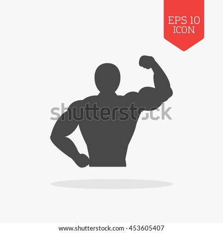 muscle body icon bodybuilding