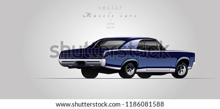 muscle car from 67s in vector