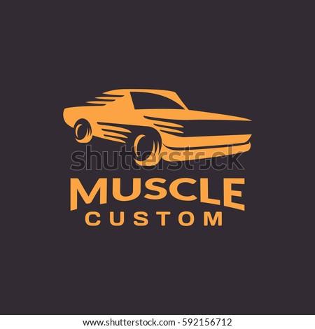 muscle car logo. car icon. auto ...