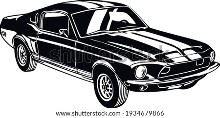 muscle car   old usa classic