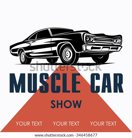 muscle car poster background