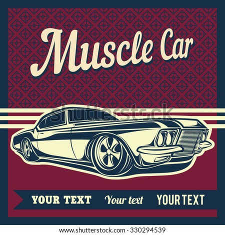 muscle car show poster
